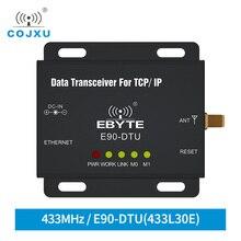 إيثرنت لورا 433 MHz 30dBm 1W TCXO E90 DTU 433L30E طويلة المدى جهاز الإرسال والاستقبال اللاسلكي IoT PLC 433 MHz RJ45 لورا مودم