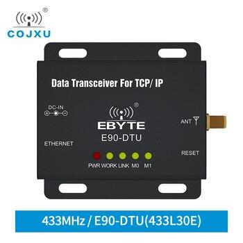 Ethernet LoRa 433MHz 30dBm 1W TCXO E90-DTU-433L30E Long Range Wireless Transceiver  IoT PLC 433 MHz RJ45 Lora Modem e90 dtu 433l37 lora rs232 rs485 wireless transceiver 433mhz 5w long distance 20km plc transceiver receiver 433 mhz radio modem