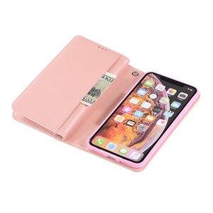 Image 4 - Роскошный кожаный кошелек для iPhone 12 Mini 11 Pro MAX, откидной блестящий чехол для iPhone X XS MAX XR 6 6s 7 8 Plus, чехол на молнии с отделениями для карт