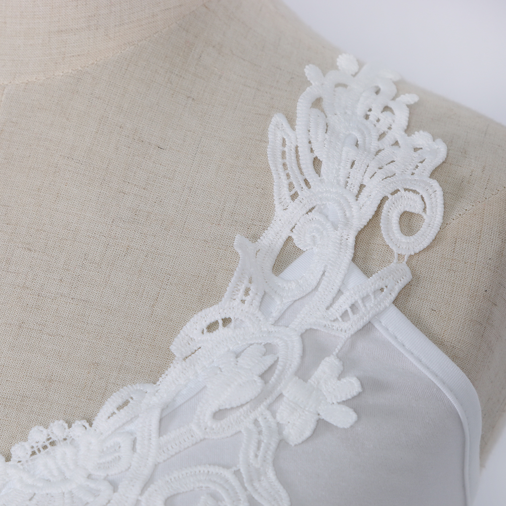 Girls Ladies Women Cotton Tank Tops Sleeveless Lace Vest Blouse Crop Top