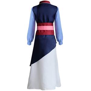Image 3 - Movie Mulan Cosplay Costumes Red Blue Drama Princess Dresses Skirt Hua Mulan For Women Girls Halloween Party Stage Clothing