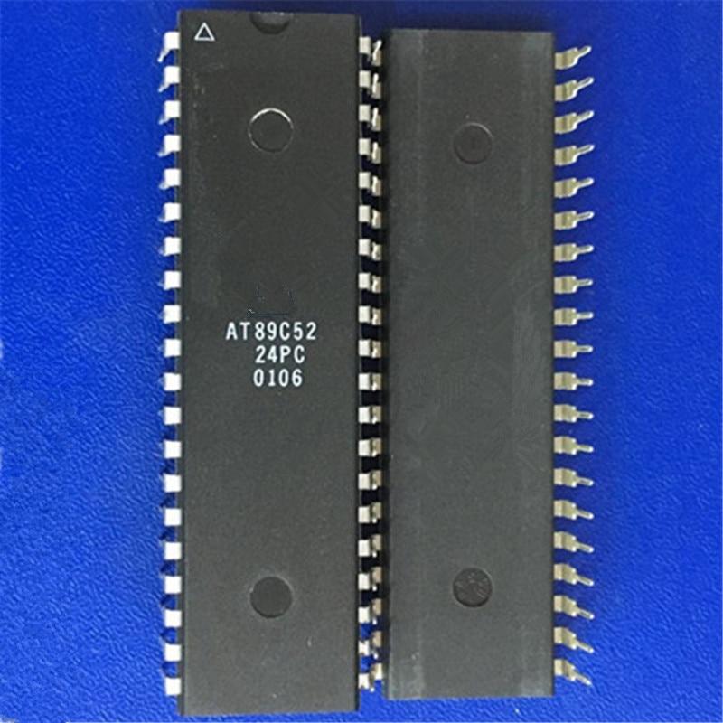 2PCS IC AT89C52-24PC AT89C52-24PI DIP-40  ATMEL  NEW GOOD QUALITY