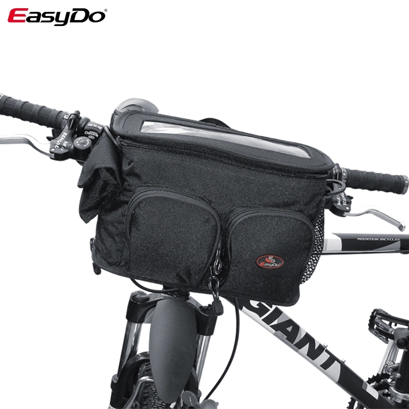EasyDo Mtb Bike Front Tube Bag Waterproof Handlebar Bicycle Frame Bag Phone Pocket Shoulder Travel Bag Bicycle Accessories080414