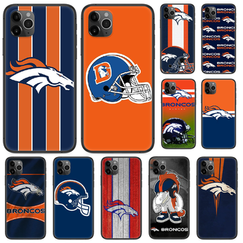 Denver Bronco American Football Phone case For iphone 4 4s 5 5S SE 5C 6 6S 7 8 plus X XS XR 11 PRO MAX 2020 black prime soft image
