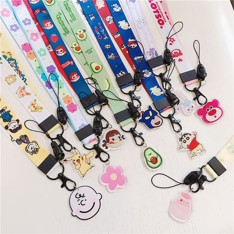 Neck Strap Lanyards for Keys Id Card Gym Mobile Phone Straps USB Badge Holder DIY Phone Hang Rope Lanyard,White