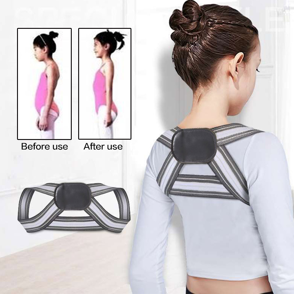 SOULAER Posture Corrector Belt Made of Breathable and Fully Elastic Fabric for Adults and Kids to Correct Body Shape Helps in Relieving Body Pain 1