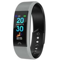 Smart Wristband fitness Blood Pressure Heart Rate MonitorColor screen smart bracelet heart rate blood pressure monitoring waterp