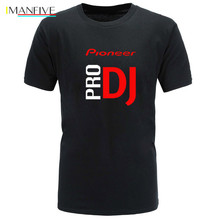 IMANFIVE 2019 DJ style Pioneer O-NECK T-shirt Men new summer fashion tshirt for Pioneer DJ PRO T Shirt Men Tees