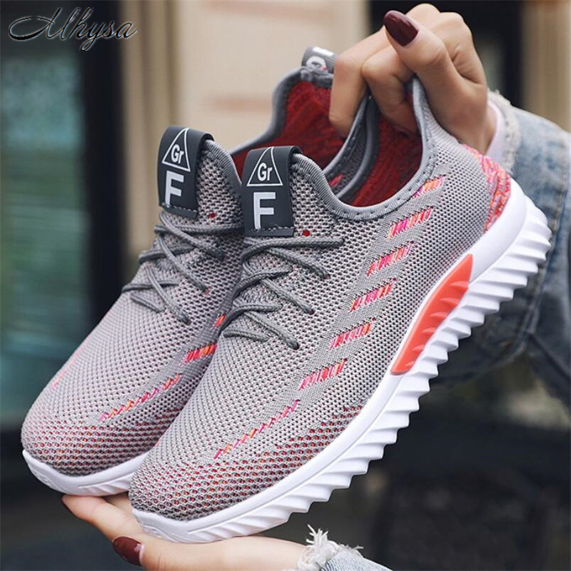 Mhysa 2020 Spring Fashion Breathable Woman Sneakers White Platform Trainers Women Shoes Casual Tenis Feminino Zapatos De Mujer
