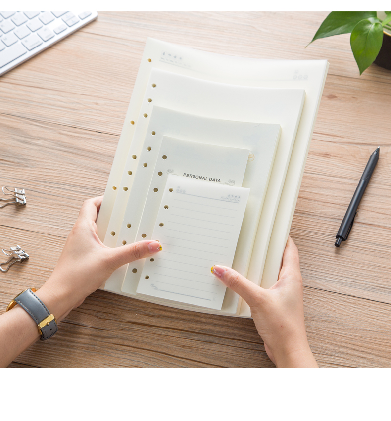 Loose Leaf Inner Page A6A7A5B5A4 Line Blank 6Holes 9Holes 4holes 48k25k18k Inner Planner Notebook Filler Paper