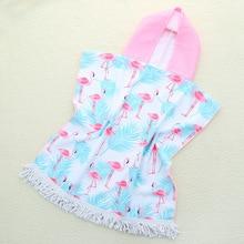 Summer Children Cartoon Microfiber Bath Hooded Towel Bathrobe unicorn pink bird children bath towel Bathrobe wearable towel
