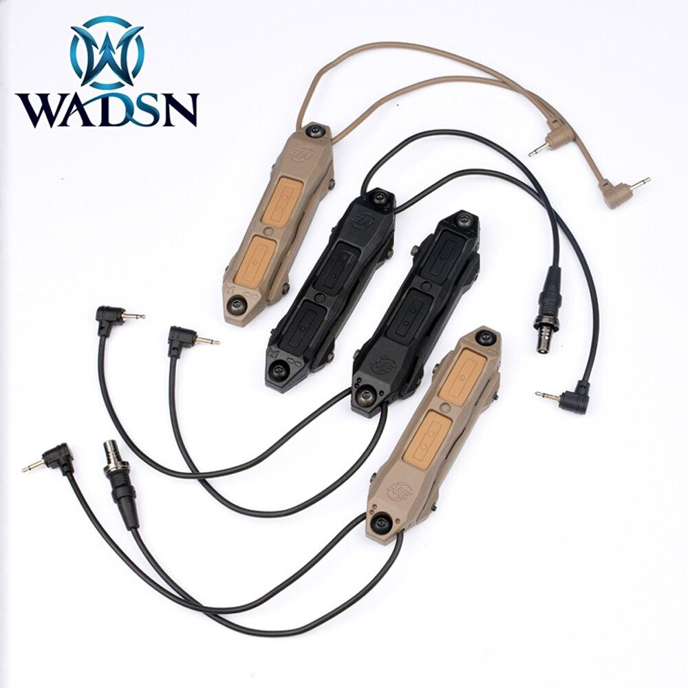 Wadsn страйкбол флэш-светильник двойной переключатель управления 3,5 мм для Sotac охотничий смягчитель давление переключатель крепление оружие ...