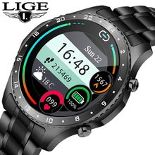 LIGE New Smart Watch men And Sports watch Blood pressure Sleep monitoring Fitness tracker Android ios pedometer Smartwatch+Box