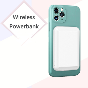 5000mAh Power Bank Magnetic Qi Wireless Charger For Huawei iPhone 12 pro X Samsung S20 Poverbank External Battery Mini Powerbank image