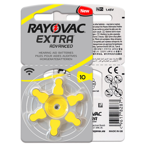 Image 4 - Аккумуляторы для слухового аппарата, 60 шт./1 коробка, RAYOVAC EXTRA A10/PR70/PR536, Цинковый воздушный аккумулятор 1,45 в, Размер 10, диаметр 5,8 мм, толщина 3,6 мм
