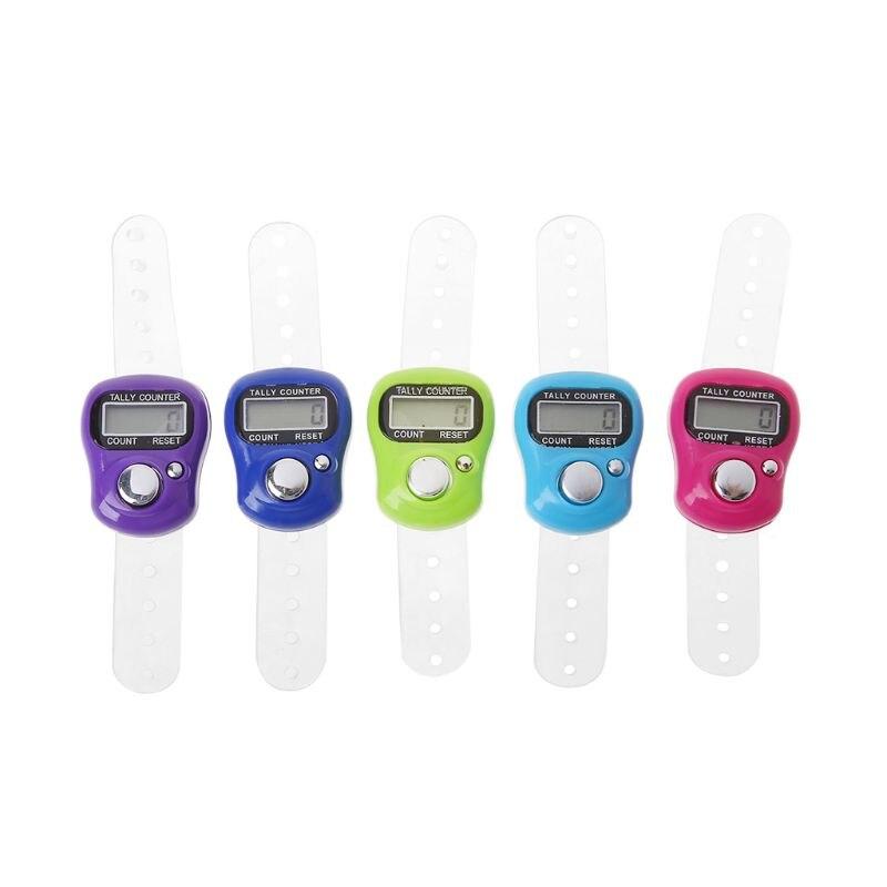 Мини-маркеры для стежков и рядов, цифровой ЖК-счетчик для шитья, инструмент для плетения, счетчик для пальцев, разные цвета