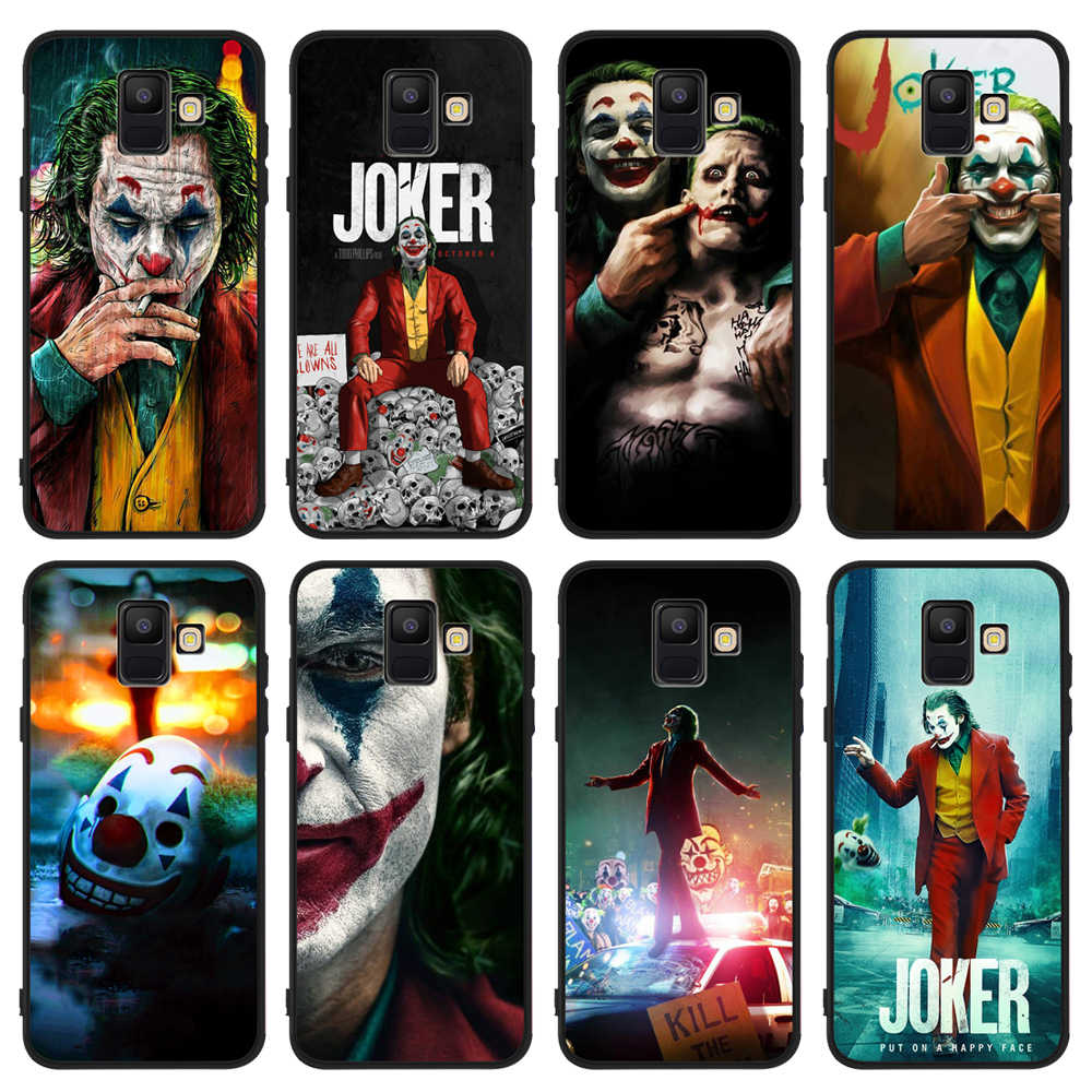 Joker Clown Bad Man Phone Case For Cover Samsung Galaxy J8 J2 J4 J6 Plus 2018 J3 J5 J7 2017 Black Cover Etui