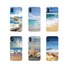 For Samsung A10 A30 A40 A50 A60 A70 Galaxy S2 Note 2 3 Grand Core Prime Beautiful Beach Starfish Seascape Accessories Case Cover(China)