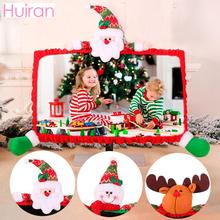 Huiran 1Pc Santa Claus Computer Monitor Border Cover Merry Christmas Decorations for Home Crismas 2019 Xmas Navidad