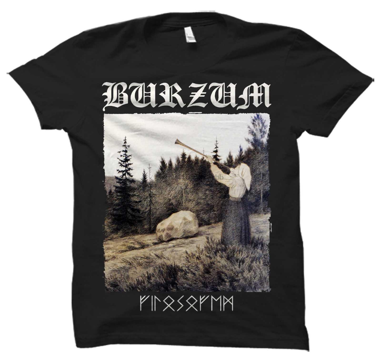 FILOSOFEM BRZM T SHIRT czarny Metal Mayhem darktrone Bathory Emperor nieśmiertelny mężczyzna topy Cool O Neck koszulka koszulka Plus rozmiar