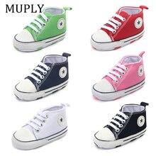 ¡Novedad! Zapatillas deportivas clásicas de lona, zapatos de primeros pasos para bebés recién nacidos, zapatos antideslizantes para bebés