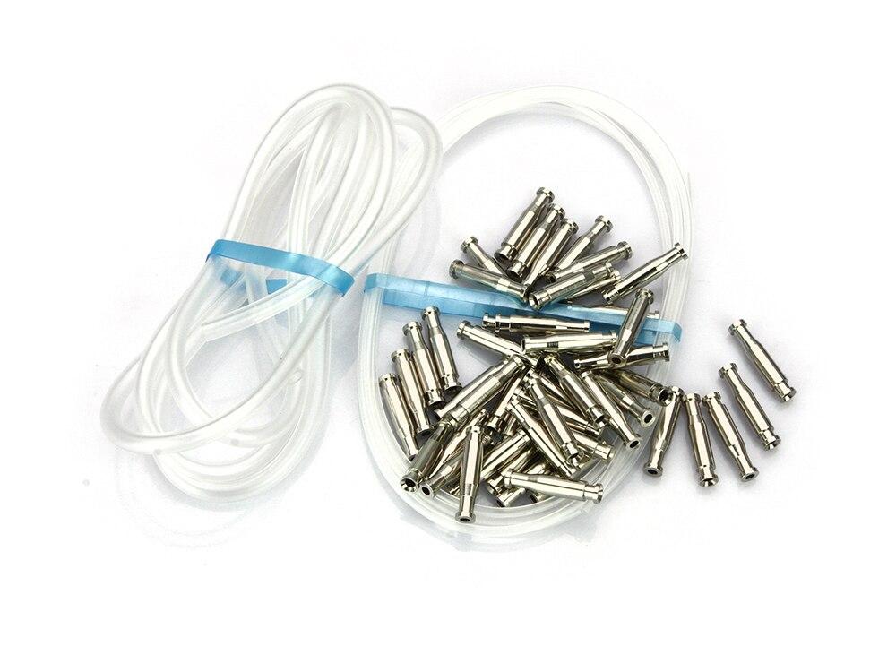 Bottle Tubes Brass Metal Tubes Fly Tying Materials +Liner Tube+Junction Tubeing-50pcs Per Pack(Silver) )