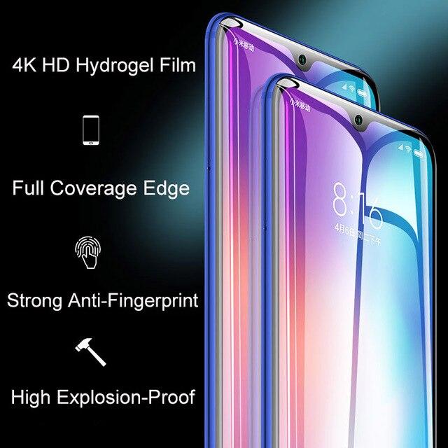 2Pcs Cover Soft Hydrogel Film For Xiaomi Mi 11 Mi 10 Mi 9 9T Pro Mi 8 A3 Screen Protector For Redmi Note 10 9 8 7 K20 K30 Pro 9S 3