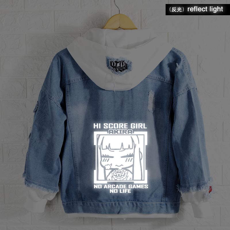 New Spring High Score Girl hoodie Anime Yaguchi Haruo Oono Akira Coat Men Women Fashion Jacket