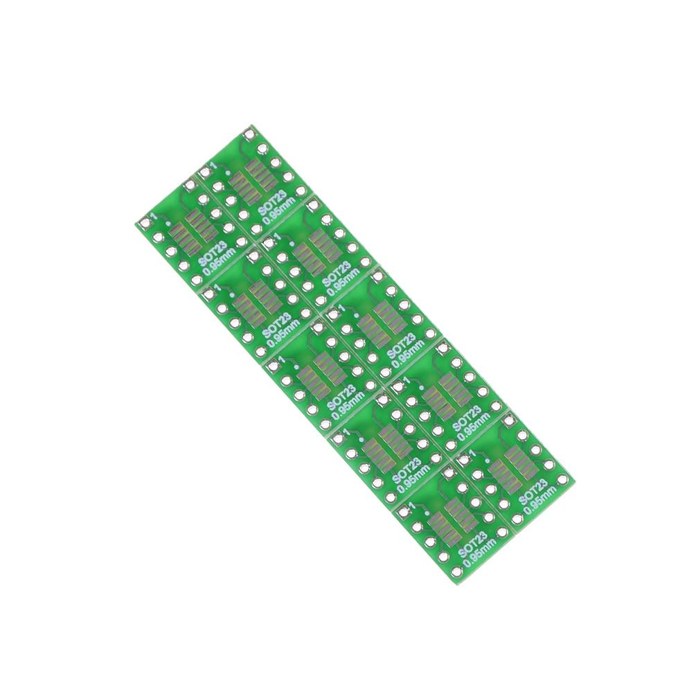10pcs SOT23 SOP10 MSOP10 Umax SOP23 To DIP10 Pinboard SMD To DIP Adapter Plate  DIP Pin PCB Board Convert 12.7*10.16mm