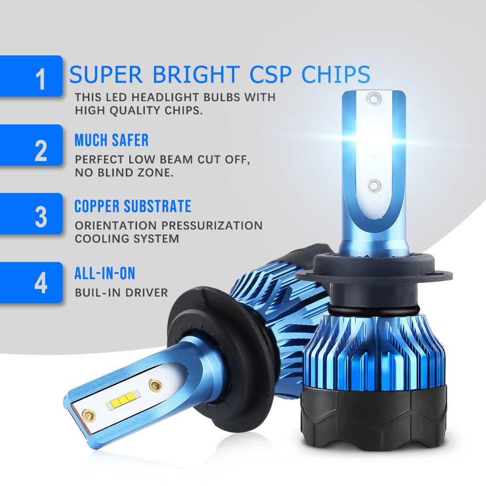 BraveWay CSP Chip Turbo HA CONDOTTO Le Lampadine per Auto H8 H9 H11 LED H4 HB4 HB3 H7 Lampade 12V h4 HA CONDOTTO il Faro H1 Lampade A LED 4300K 6500K