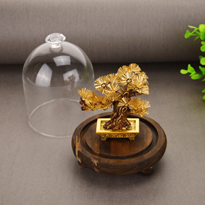 Image 4 - Feng shui Decor Lucky Wealth Ornament 24k Gold Foil Pine Tree Gold Crafts Office Desktop Lucky Ornaments Home Decoration Gifts