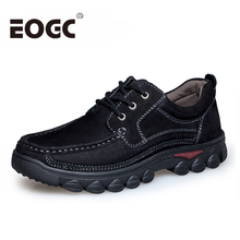 Plus Size 48 Genuine Leather Shoes Men Cow Leather Casual Shoes Male Outdoor walking High Quality Men Flats Lace-Up Man Footwear tauntte four season genuine leather casual shoes cow leather men shoes plus size