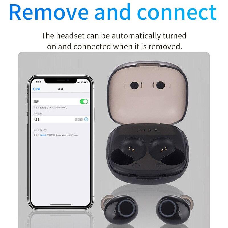 2019 Wireless Bluetooth 5.0 Earbuds Sports TWS Bluetooth Headset Mini Sports Wireless Headphones With Binaural Noise Reduction