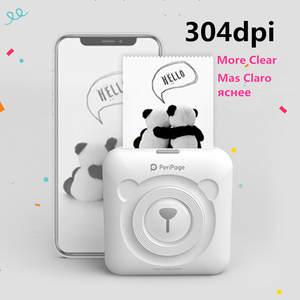 Photo-Printer Paper Adhesive 304dpi Peripage Termalni Bluetooth Mini Portable Ink-Free