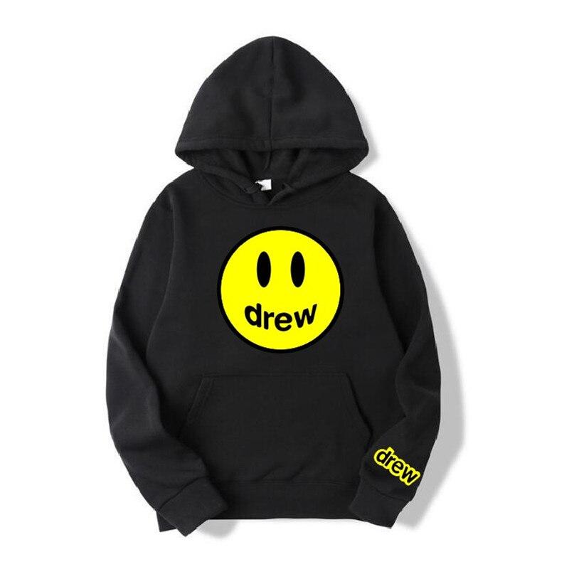 drew house print justin bieber hoodies women/men/kids Drew oversize Hooded Sweatshirt kpop Tracksuit Harajuku Hip Hop Streetwear