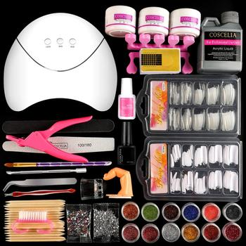 COSCELIA Acrylic Nail Kit With Manicure Machine Set For Building Nail Tools Sets Wiht Acrylic Powder All For Manicure Nail Set 1