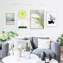 Пейзаж холст картины модульная Плакаты и принтами оленя фотографии