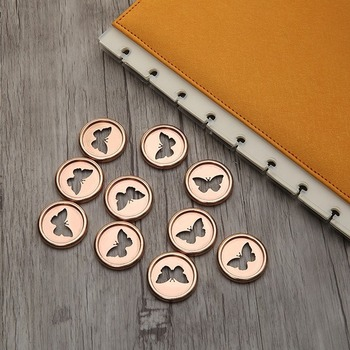 цена на 100pcs28mm Electroplated ring buckle suitable for mushroom hole notepad hand book disc butterfly mushroom hole buckle
