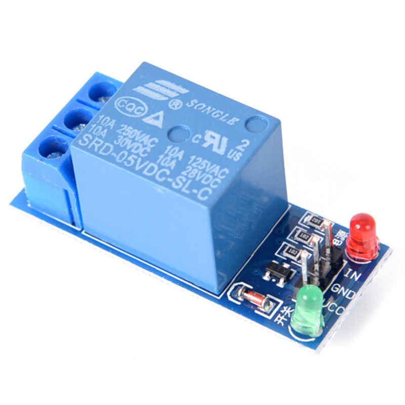 53Mm * 28.3Mm * 19.3Mm 5V 1 Kanaals Relais Board Module Optocoupler Led Voor Pic Arm avr