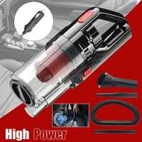 Lightweight Portable DC 12V Corded Car Vacuum Cleaner,150W 6000PA Strong Power Suction Powered By Outlet,Wet/Dry Handheld Auto