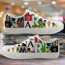 INSTANTARTS Custom Image/Picture your Name/Logo Low top Canvas Shoes White Black Male Lace Up Sneakers Man Casual Shoe
