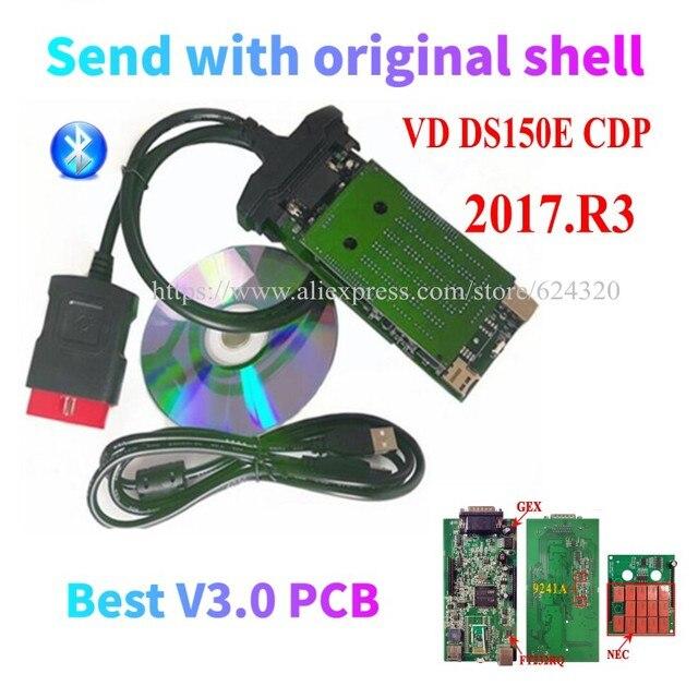 2017.R3 Keygen New Vci Vd DS150E Cdp Vd Tcs Cdp for Delphis Diagnostic Tool v3.0 v8 v9 for truck/car Scanner Accessories