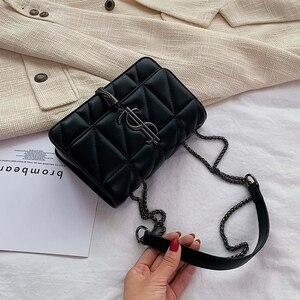 Image 4 - 2020 Luxury Famous Brand Women Bags Designer Lady Classic Plaid Shoulder Crossbody Bags Leather Women Messenger Handbags