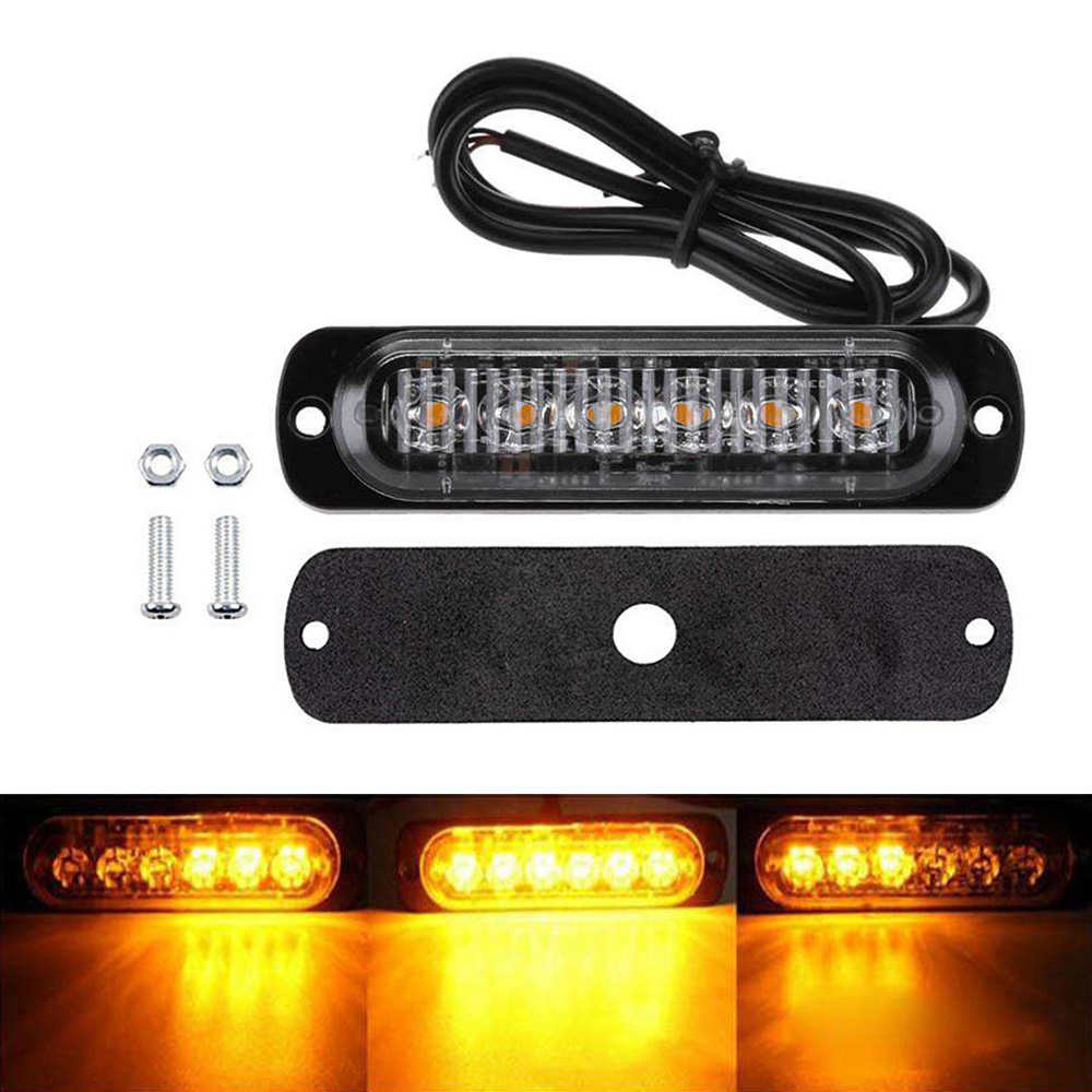 12/24V 6 LED Car Truck Emergency Warning LED Strobe Side Marker light for Auto Truck Trailer Led Signal Tail Light-in Signal Lamp from Automobiles & Motorcycles