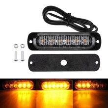 12/24V 6 LED samochodów ciężarowych awaryjne ostrzegawcze LED stroboskopowe światło obrysowe boczne dla Auto Truck Trailer Led Signal Tail light