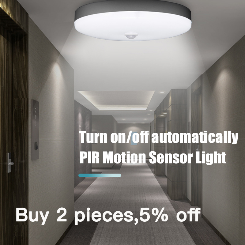 E27 Smart Led Night Light Lamp With Motion Sensor Lights Bulb 220V 5/7/9/12/18W PIR Sensor Ceiling Lamps For Home Stair Hallways