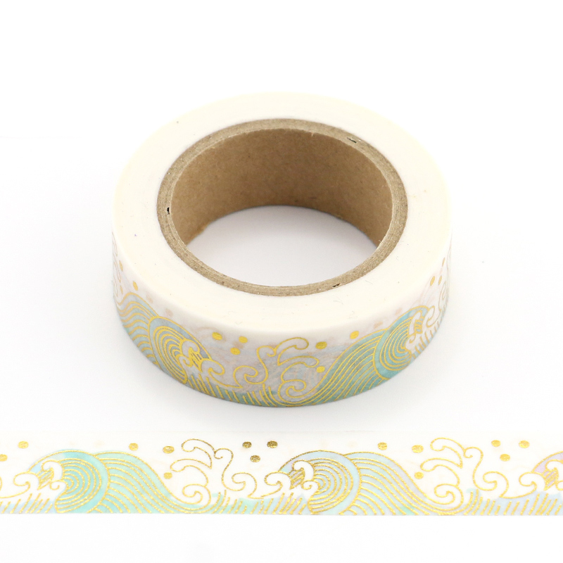 Купить с кэшбэком New 10m Foil Washi Tape rainbow, mermaid,floral and christmas design Scrapbooking Christmas Decorative Masking Tape