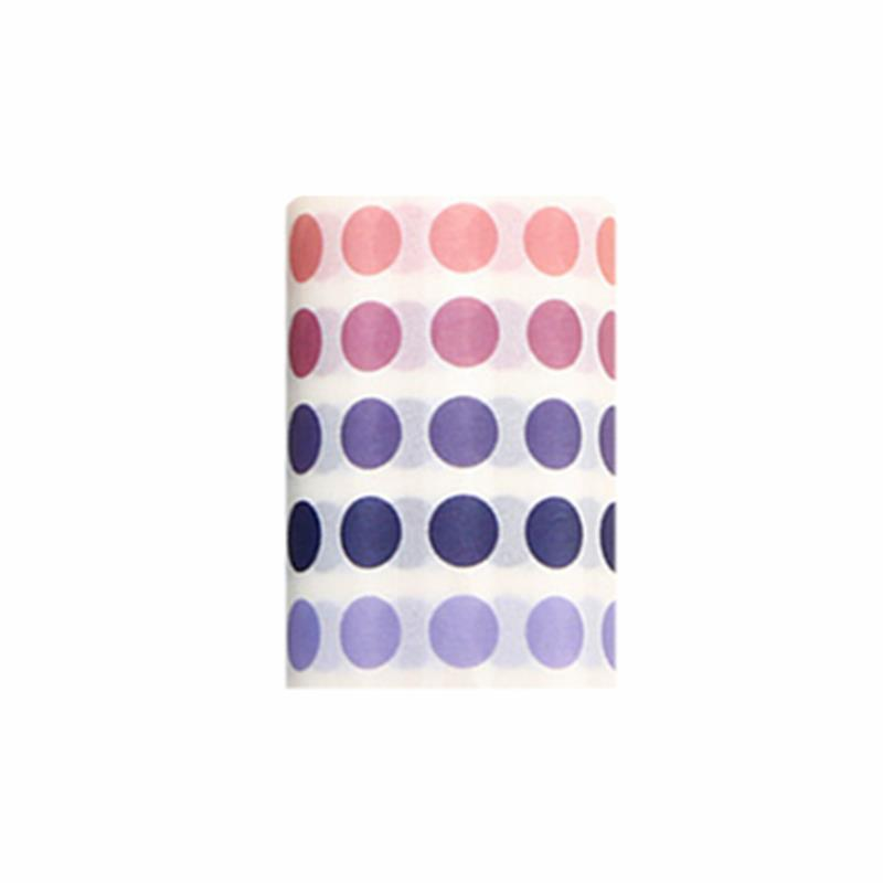1 Pcs Dot Masking Tape Wide Washi Tape Basic Colorful Round Adhesive Tape DIY Scrapbooking Journal School Stationery 6