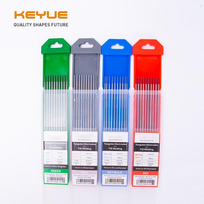 KEYUE Tungsten Electrodes Welding Electrodes Tig Welding Rods 1.6 2.0 2.4 3.2mm WT20 WC20 WP WL20 Tig Rods