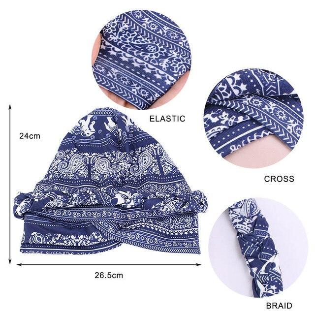 Фото новая оплетка головной убор шапки печать твист платок рак химиотерапия